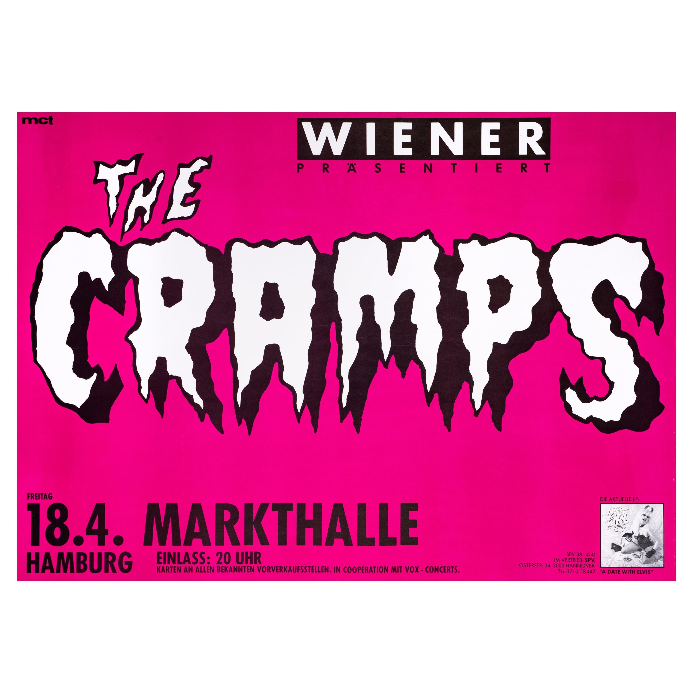 """""""The Cramps"""" Original Vintage Concert Poster for Hamburg, Germany, 1986"""