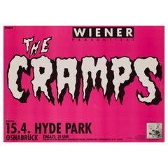 """The Cramps"" Original Vintage Concert Poster for Osnabruck, Germany, 1986"