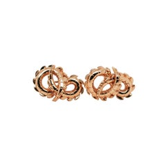 Crocodile Tail Earrings in 18ct Rose Gold
