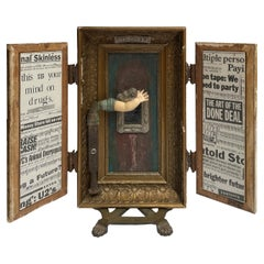 """The Cult of Self"", Sculptural Object with Hidden Paintings and Moveable Frames"