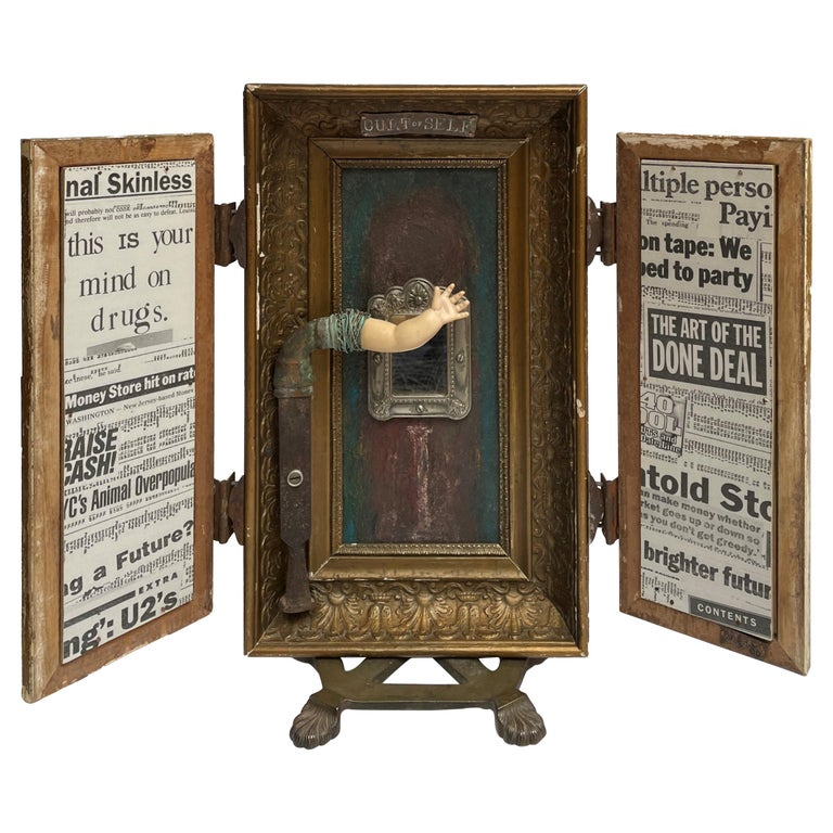 """""""The Cult of Self"""", Sculptural Object with Hidden Paintings and Moveable Frames"""