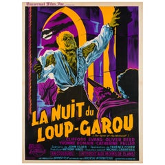 The Curse of the Werewolf Original French Film Movie Poster, Guy Noel, 1961
