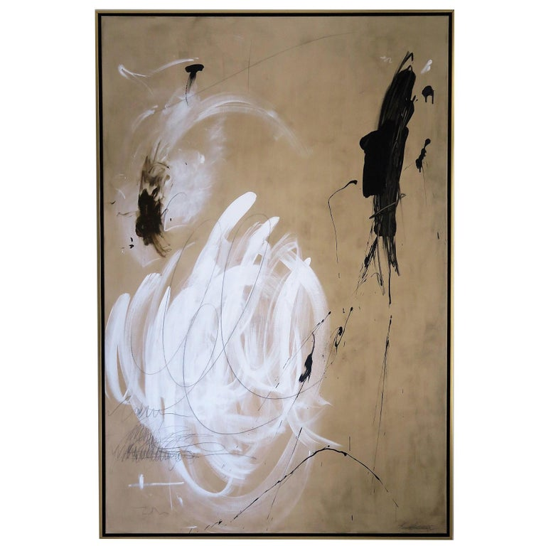 """""""The Dance"""" Original Abstract Painting by Karina Gentinetta For Sale"""