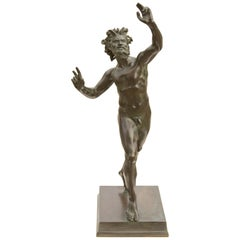 The Dancing Faun of Pompeii a Bronze Sculpture