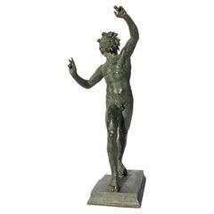 Dancing Faun of Pompeii a Bronze Sculpture Grand Tour