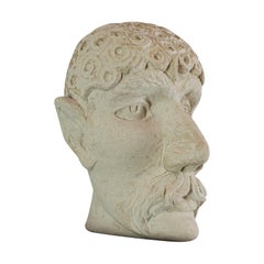 The Dandy, Sculpture, Artwork, Dominic Hurley, English, Bath Stone, Figure, Bust