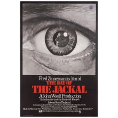 'The Day of the Jackal' 1973 British One Sheet Film Poster