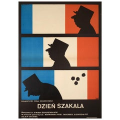 """""""The Day of the Jackal"""" 1975 Polish A1 Film Poster"""
