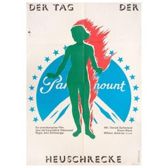 The Day of the Locust 1981 East German A1 Film Poster