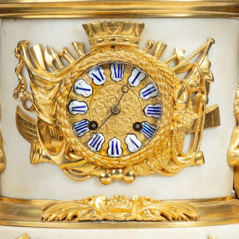 French 'The Death of Nelson' Commemorative Striking Mantelpiece Clock For Sale