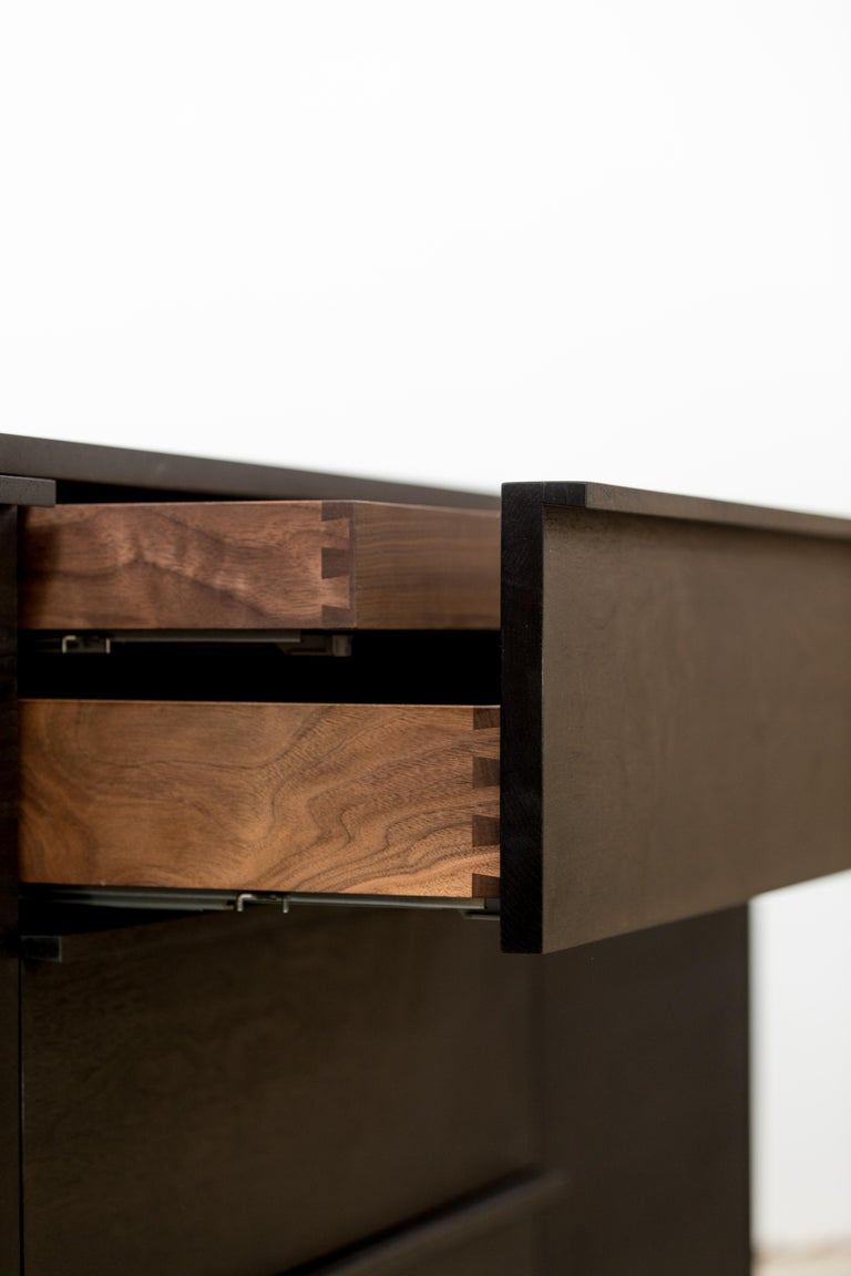 Canadian Contemporary Ink Stained Walnut Credenza / Dresser by Kate Duncan  For Sale