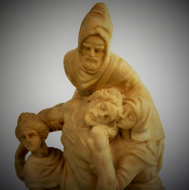 Late 20th Century The Deposition Reproduction Sculpture after Michelangelo For Sale
