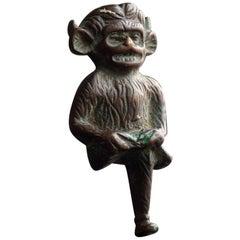 The Devil Knocks Once circa 1910 Bronze Door Knocker