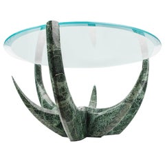 """The Diamond Aloe"" Green Marble Coffee Table by Grzegorz Majka"