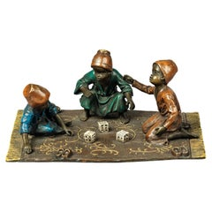 'The Dice Players', a Fine Cold Painted Orientalist Bronze