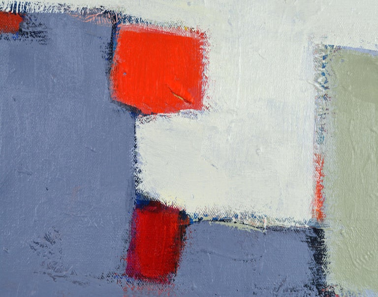 American 'The Docks' Contemporary Abstract Original Painting by Lars Hegelund