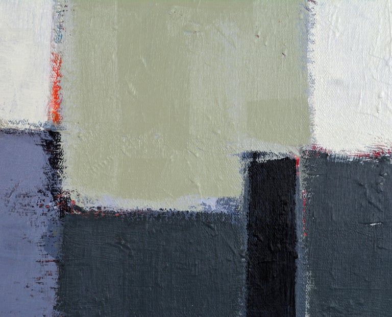 'The Docks' Contemporary Abstract Original Painting by Lars Hegelund In Excellent Condition In Ft. Lauderdale, FL