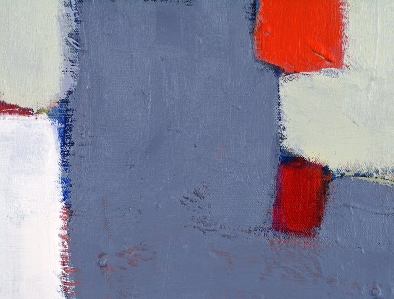 Aluminum 'The Docks' Contemporary Abstract Original Painting by Lars Hegelund