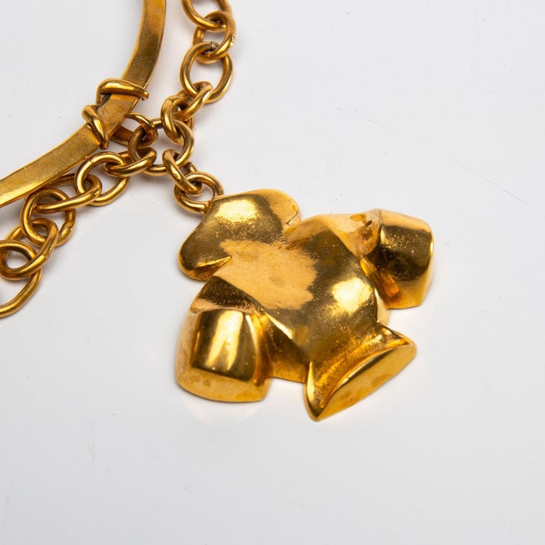 French The Dove of Peace, Gilt Bronze Necklace, Line Vautrin 'France' For Sale