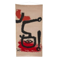 The Drummer Boy after Paul Klee, 100 Percent Wool Rug/Wall Hanging