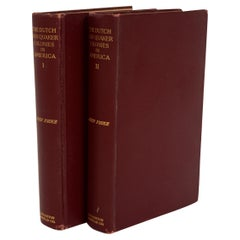 The Dutch and Quaker Colonies in America, 1899, in Two Volumes, 1st Edition
