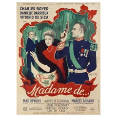 The Earrings of Madame de... 1953 French Moyenne Film Poster