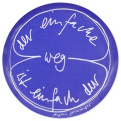 The Easy Way is Just the Way, Original Ceramic Plate by Eugene Gomringer, 1970s