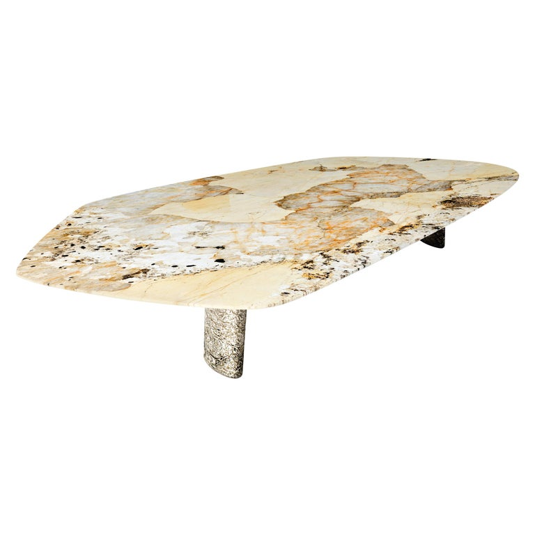 """Elements III"" Modern Center Table ft. Quartzite & Nickel by Grzegorz Majka For Sale"