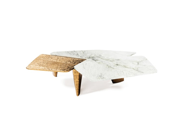 """""""The Elements"""" is one of a kind and one of the series of various coffee tables that will be presented in a near future. Created of the two totally different shapes, structures reveals some symbiotic influence between each other. One delicate- second"""