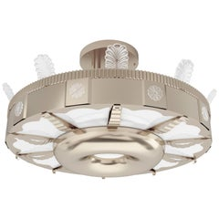 Eltham Torus Pendant by David Duncan, Art Deco Style Pendant Light, New