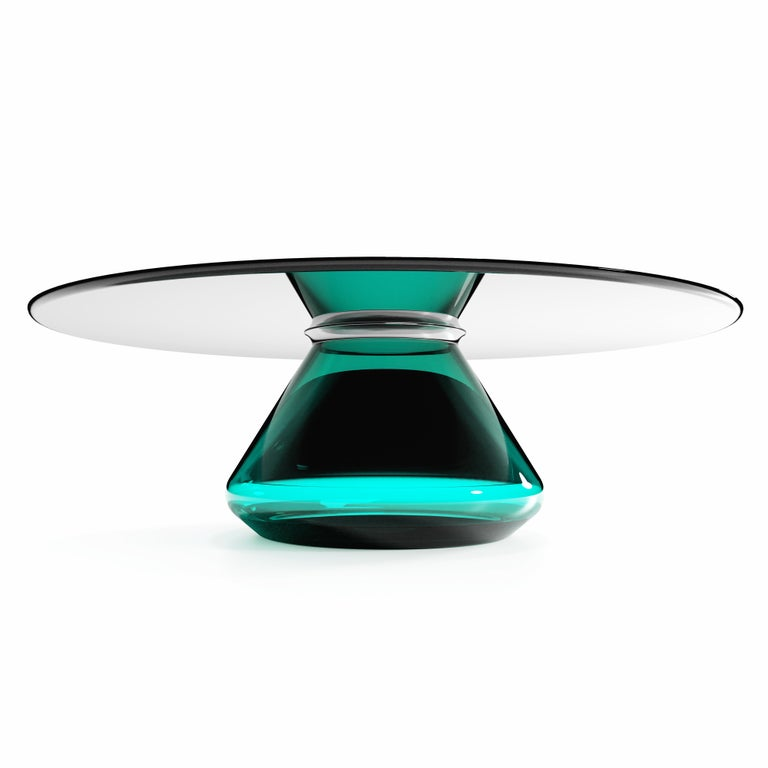The Emerald Eclispse II coffee table by Grzegorz Majka.