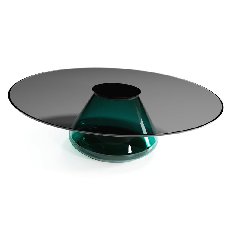 British The Emerald Eclispse II Coffee Table by Grzegorz Majka For Sale