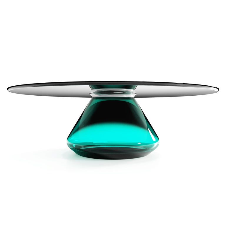 The Emerald Eclispse II Coffee Table by Grzegorz Majka In New Condition For Sale In Geneve, CH