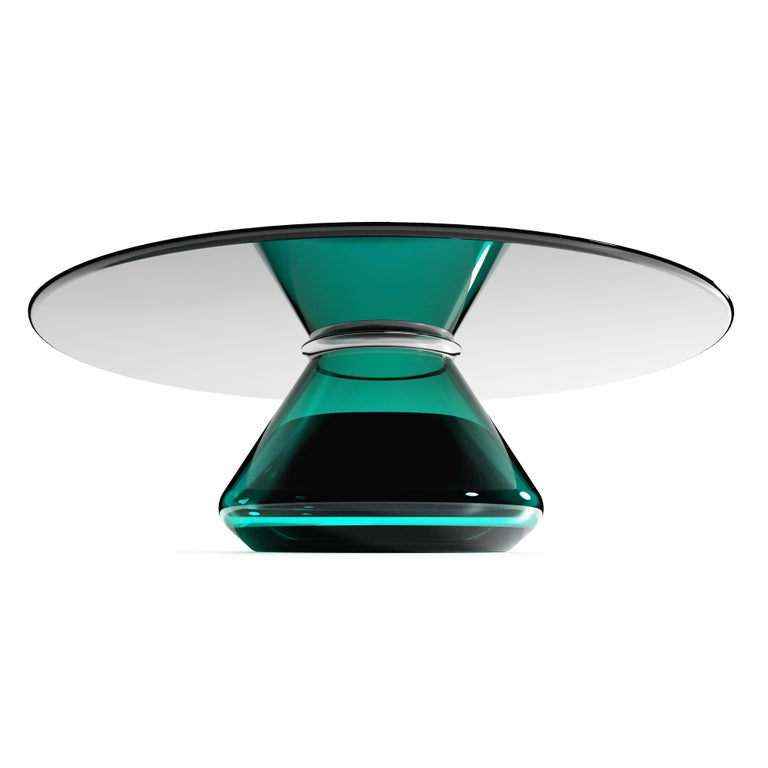 Contemporary The Emerald Eclispse II Coffee Table by Grzegorz Majka For Sale