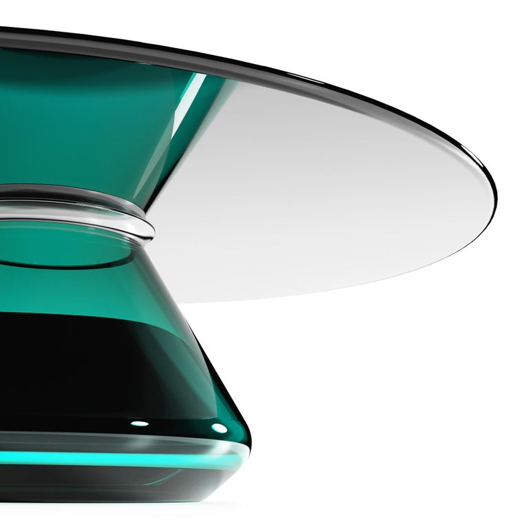 The Emerald Eclispse II Coffee Table by Grzegorz Majka For Sale 2