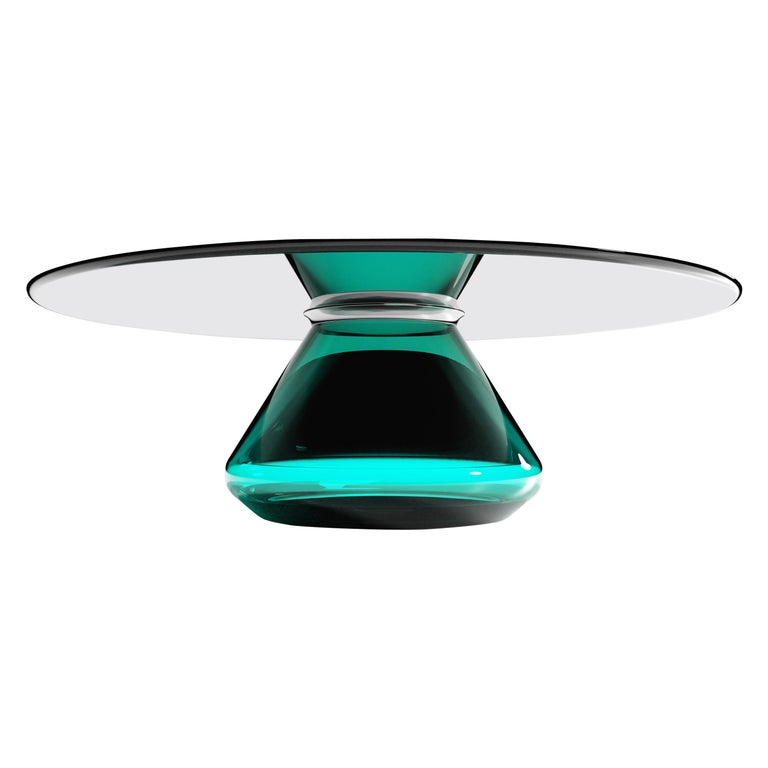 The Emerald Eclispse II Coffee Table by Grzegorz Majka For Sale