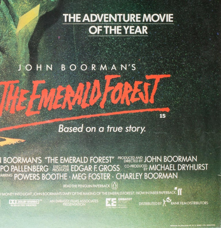 We adore Vic Fair's wonderfully inventive design for The Emerald Forest British poster, beautifully illustrated by Brian Bysouth.  In an interview with Filmonpaper Fair cited it as one of his favourites...