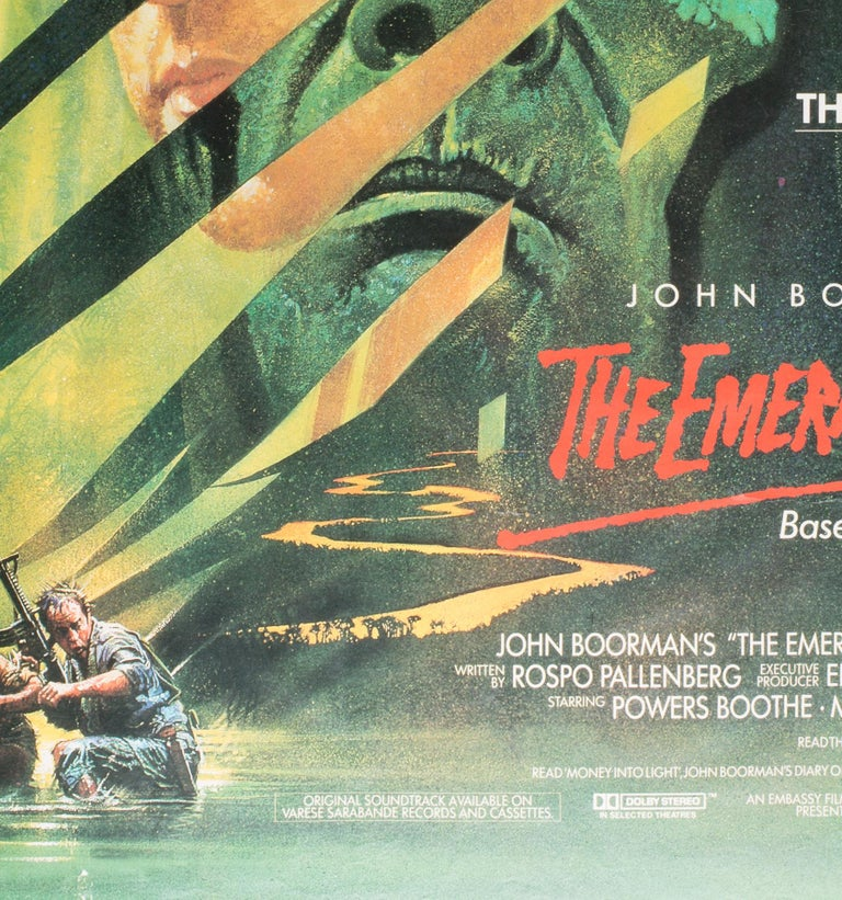 British The Emerald Forest 1985 UK Quad Film Poster Signed by Vic Fair For Sale