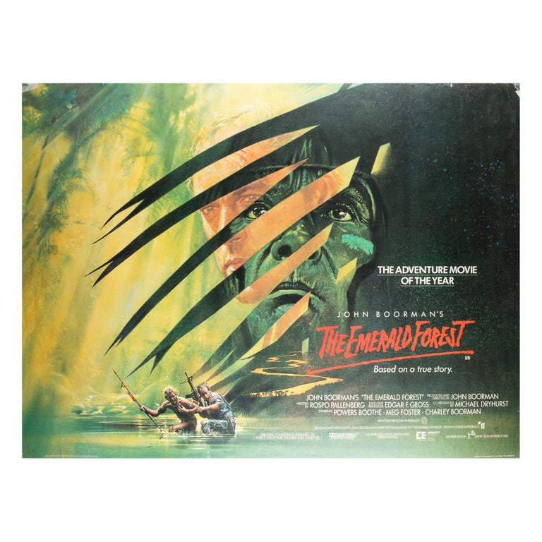 The Emerald Forest 1985 UK Quad Film Poster Signed by Vic Fair For Sale
