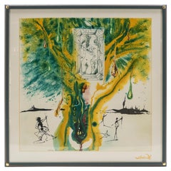 Emerald of the Tablet Salvador Dali Silk Serigraphy 1976, '1989-2000'