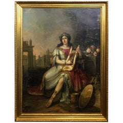 Emperor Nero Plays the Lyre While Rome Burns  by F. Ugeri. Rome, circa 1810