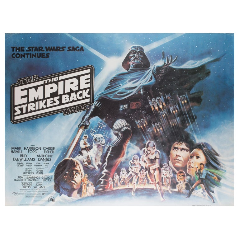 """The Empire Strikes Back"", 1980 UK Quad Film Poster, Tom Jung For Sale"