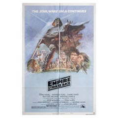 """The Empire Strikes Back"" 1980 U.S. One Sheet Film Poster"