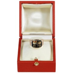 Enamel and Gold Nelson Memorial Ring, Made for His Aunt, Mrs Thomasine Goulty