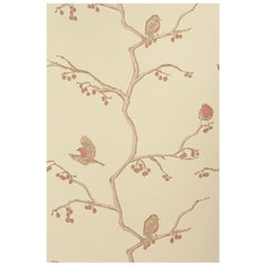 'The English Robin' Contemporary, Traditional Wallpaper in Parchment