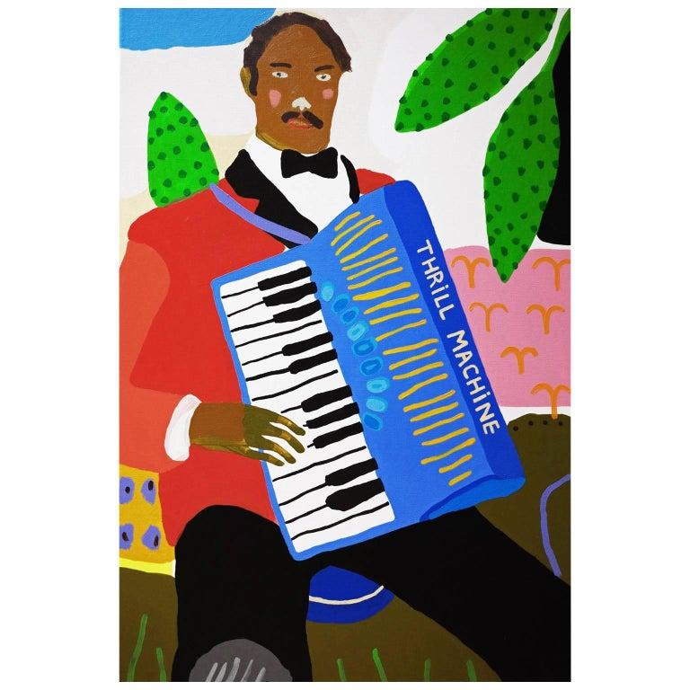 'The Entertainment' Portrait Painting by Alan Fears Pop Art For Sale