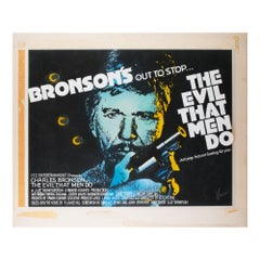 The Evil That Men Do 1984 Original Concept Artwork by Vic Fair Film/Movie Poster