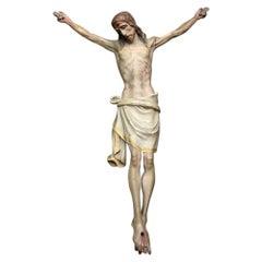Exquisite Hand Carved Italian Late 19th Century Corpus Christi Figure