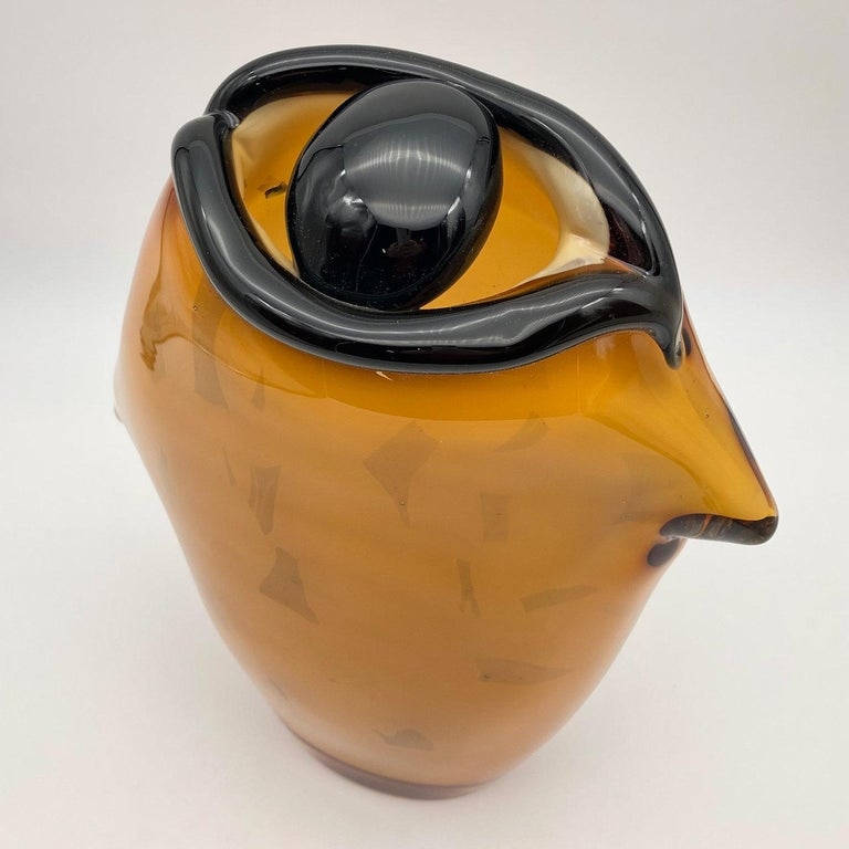 Modern The Eye Amber Vase by Toso Cristiano For Sale