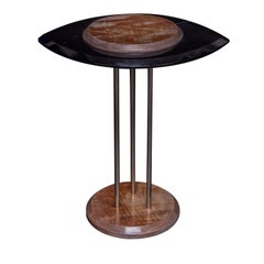 Eye Side Table in Black Marble